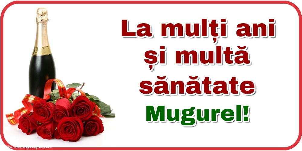 Felicitari de zi de nastere - La mulți ani și multă sănătate Mugurel!