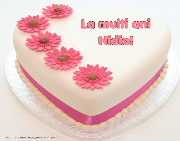 Felicitari de zi de nastere - La multi ani Nidia! - Tort