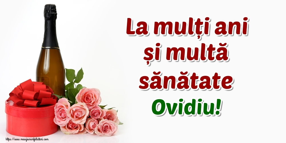 Felicitari de zi de nastere - La mulți ani și multă sănătate Ovidiu!