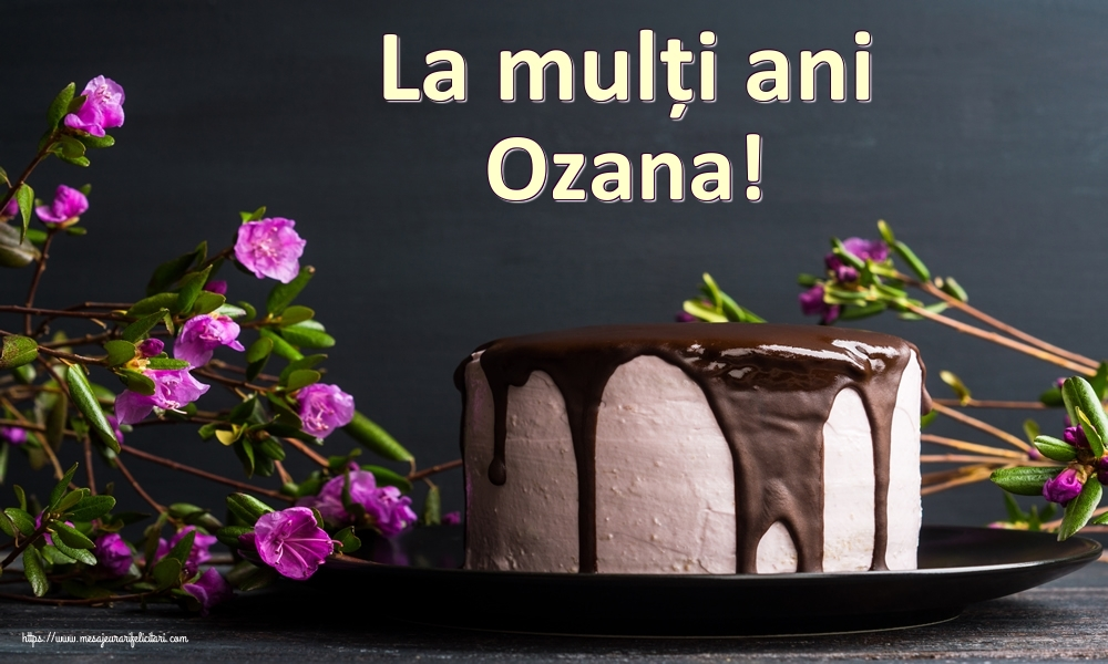 Felicitari de zi de nastere - La mulți ani Ozana!
