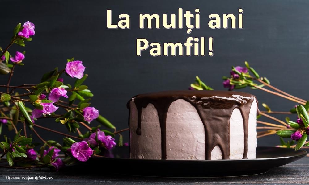 Felicitari de zi de nastere - La mulți ani Pamfil!