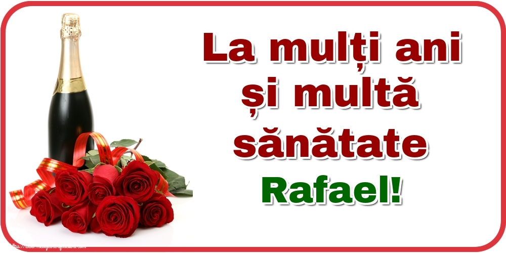 Felicitari de zi de nastere - La mulți ani și multă sănătate Rafael!