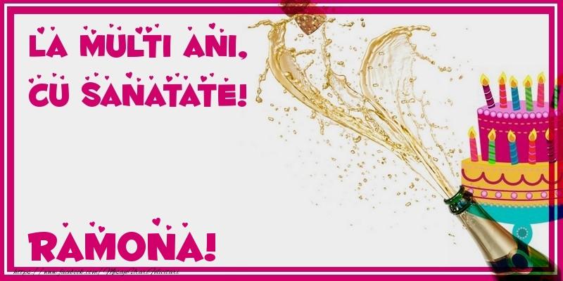 Felicitari de zi de nastere - La multi ani, cu sanatate! Ramona