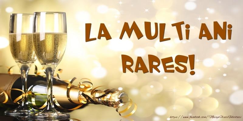 Felicitari de zi de nastere - Sampanie - La multi ani, Rares!