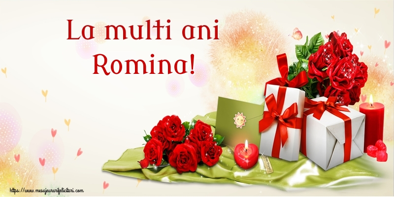 Felicitari de zi de nastere - La multi ani Romina!