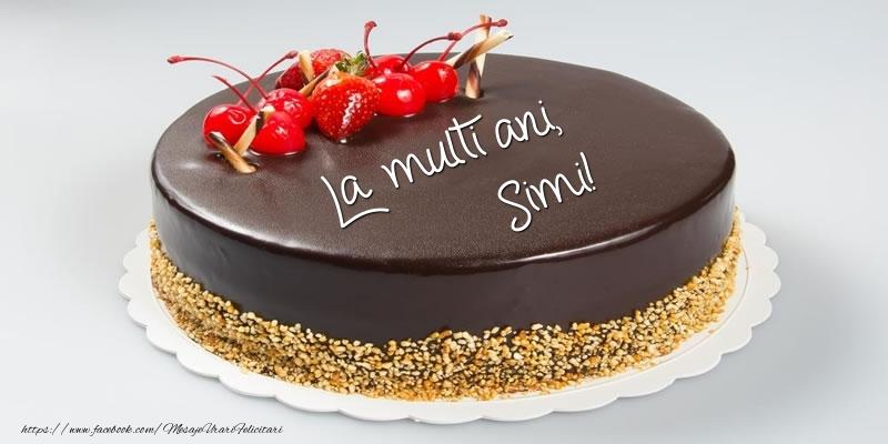 Felicitari de zi de nastere - Tort - La multi ani, Simi!