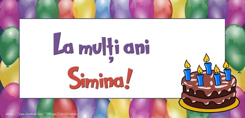 Felicitari de zi de nastere - La mulți ani, Simina!