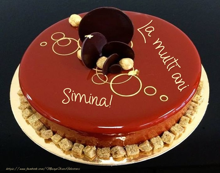 Felicitari de zi de nastere - Tort - La multi ani Simina!