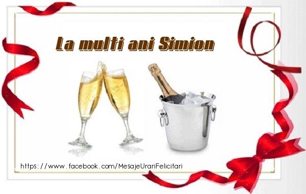 Felicitari de zi de nastere - La multi ani Simion