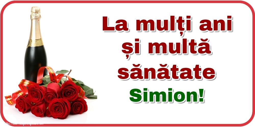 Felicitari de zi de nastere - La mulți ani și multă sănătate Simion!