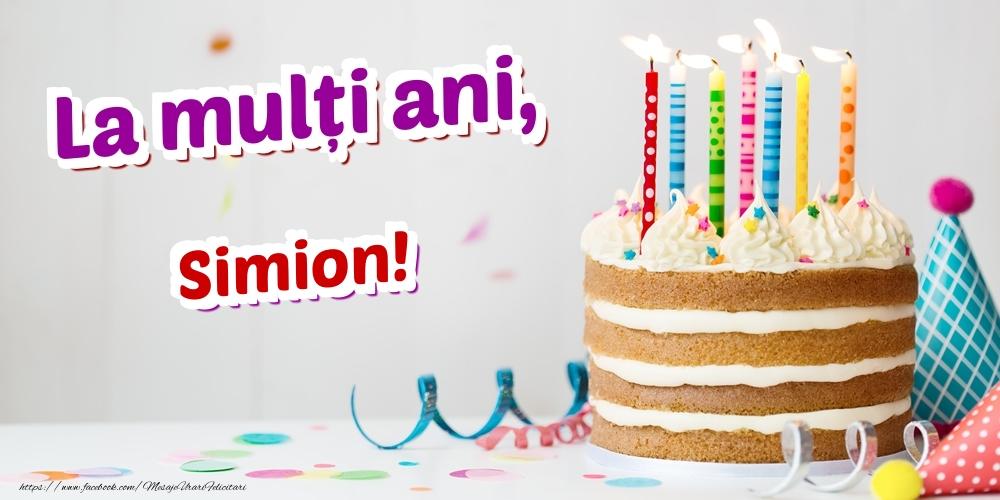 Felicitari de zi de nastere - La mulți ani, Simion