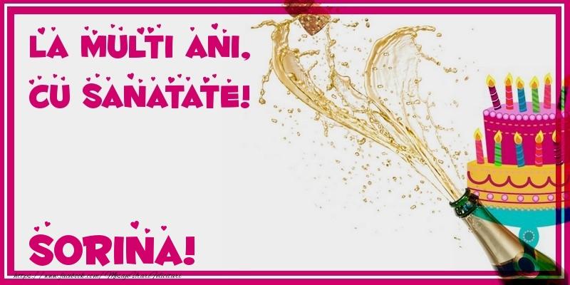 Felicitari de zi de nastere - La multi ani, cu sanatate! Sorina