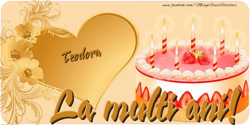 Felicitari de zi de nastere - La multi ani, Teodora