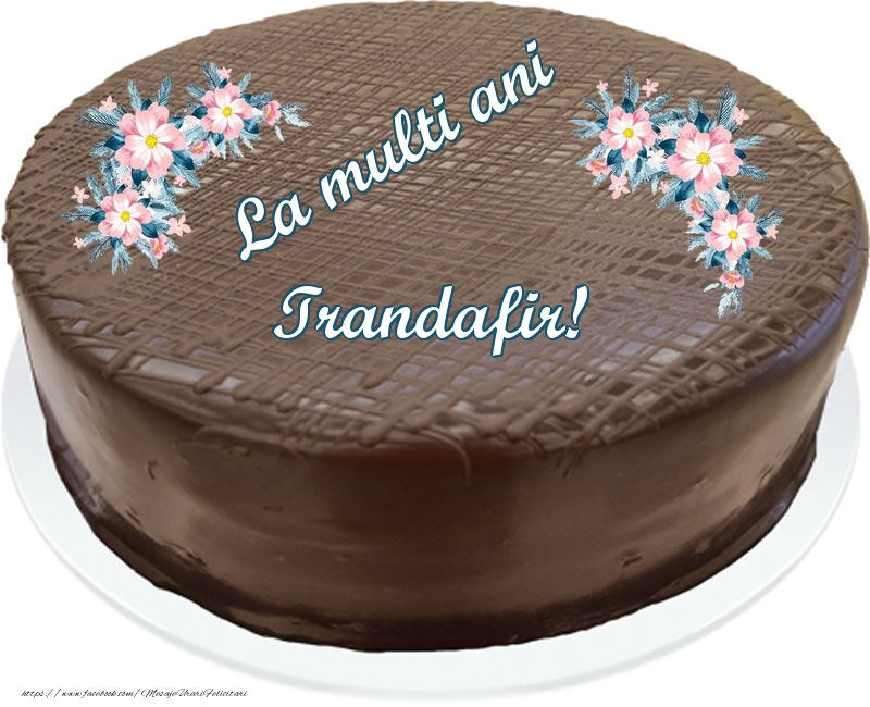 Felicitari de zi de nastere - La multi ani Trandafir! - Tort de ciocolata