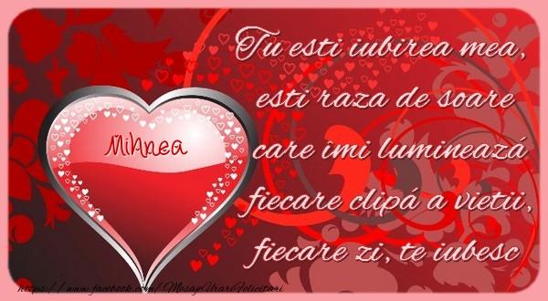Felicitari Ziua indragostitilor - Mihnea Tu esti iubirea mea, esti raza de soare care îmi lumineazá fiecare clipá a vietii, fiecare zi, te iubesc.