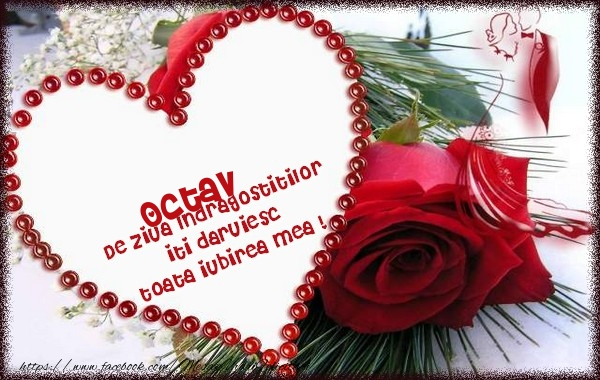 Felicitari Ziua indragostitilor - Octav de ziua Indragostitilor  iti daruiesc  toata iubirea mea !