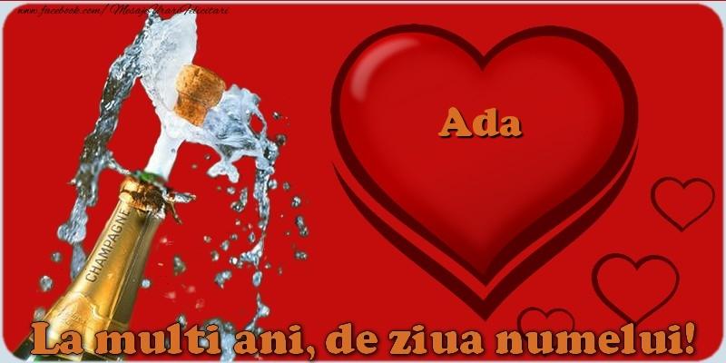 Felicitari de Ziua Numelui - La multi ani, de ziua numelui! Ada
