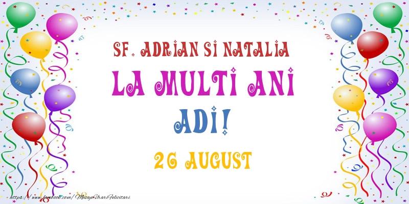 Felicitari de Ziua Numelui - La multi ani Adi! 26 August