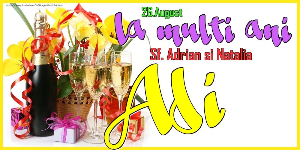 Felicitari de Ziua Numelui - 26.August - La mulți ani Adi!