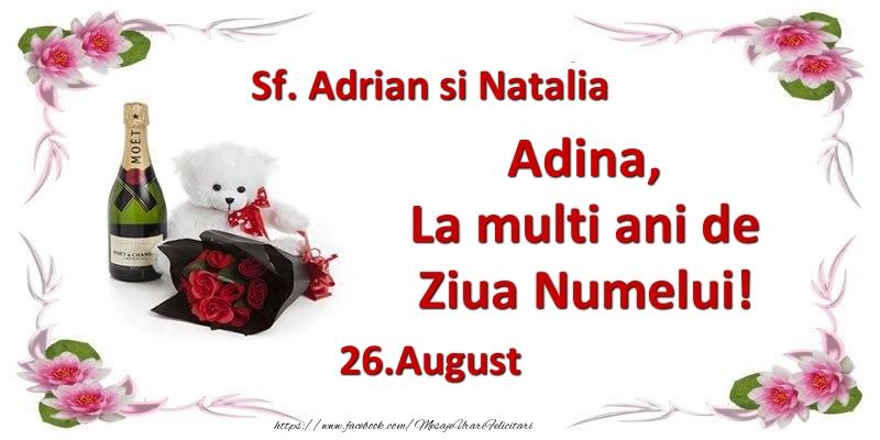 Felicitari de Ziua Numelui - Adina, la multi ani de ziua numelui! 26.August Sf. Adrian si Natalia