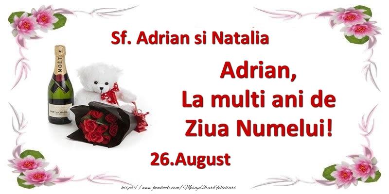 Felicitari de Ziua Numelui - Adrian, la multi ani de ziua numelui! 26.August Sf. Adrian si Natalia