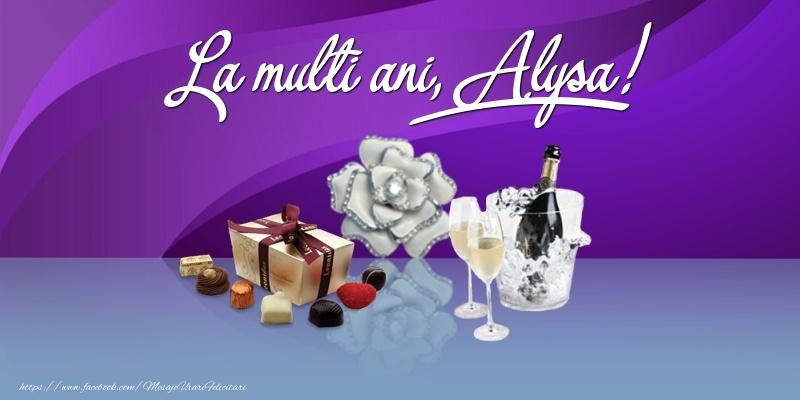 Felicitari de Ziua Numelui - La multi ani, Alysa!