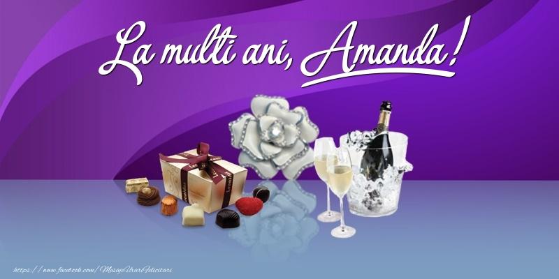 Felicitari de Ziua Numelui - La multi ani, Amanda!