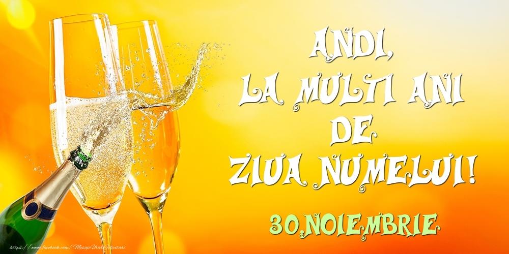 Felicitari de Ziua Numelui - Andi, la multi ani de ziua numelui! 30.Noiembrie