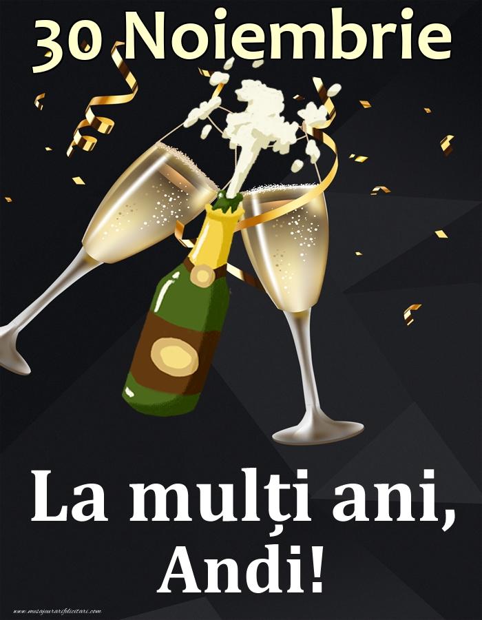 Felicitari de Ziua Numelui - 30 Noiembrie - La mulți ani, Andi!