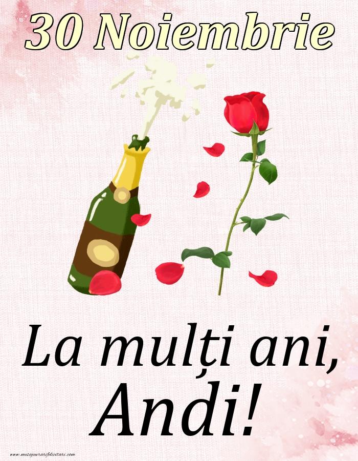 Felicitari de Ziua Numelui - La mulți ani, Andi! - 30 Noiembrie
