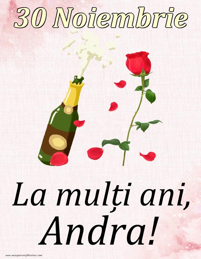 Felicitari de Ziua Numelui - La mulți ani, Andra! - 30 Noiembrie