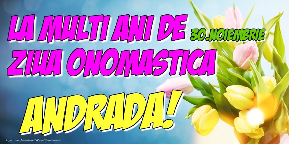 Felicitari de Ziua Numelui - 30.Noiembrie - La multi ani de ziua onomastica Andrada!