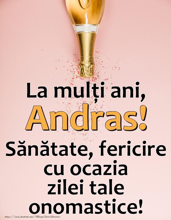 Felicitari de Ziua Numelui - La mulți ani, Andras! Sănătate, fericire cu ocazia zilei tale onomastice!