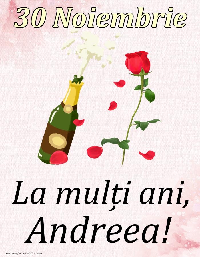 Felicitari de Ziua Numelui - La mulți ani, Andreea! - 30 Noiembrie