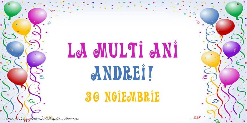 Felicitari de Ziua Numelui - La multi ani Andrei! 30 Noiembrie