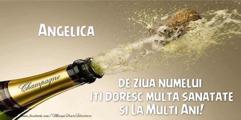 Felicitari de Ziua Numelui - Angelica de ziua numelui iti doresc multa sanatate si La Multi Ani!