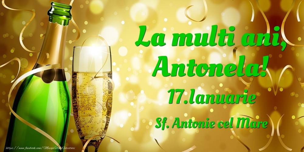 Felicitari de Ziua Numelui - La multi ani, Antonela! 17.Ianuarie - Sf. Antonie cel Mare