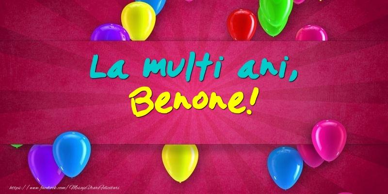 Felicitari de Ziua Numelui - La multi ani, Benone!
