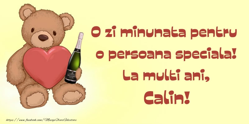 Felicitari de Ziua Numelui - O zi minunata pentru o persoana speciala! La multi ani, Calin!