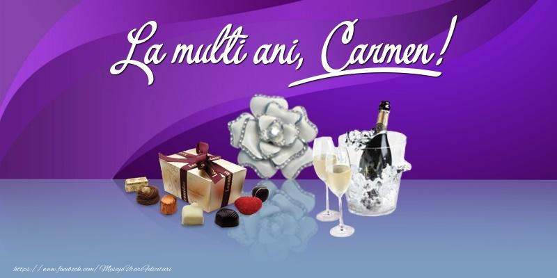 Felicitari de Ziua Numelui - La multi ani, Carmen!