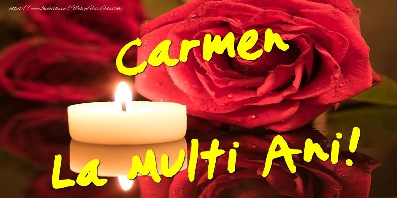Felicitari de Ziua Numelui - Carmen La Multi Ani!