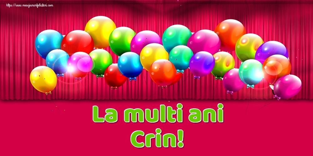 Felicitari de Ziua Numelui - La multi ani Crin!