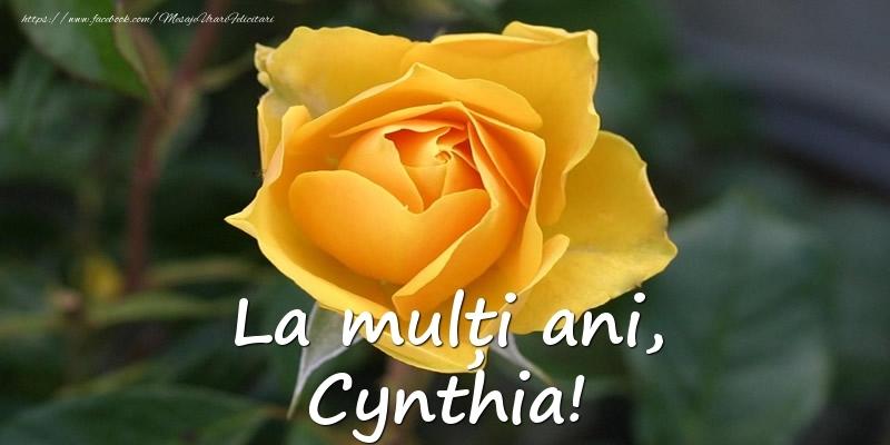 Felicitari de Ziua Numelui - La mulți ani, Cynthia!