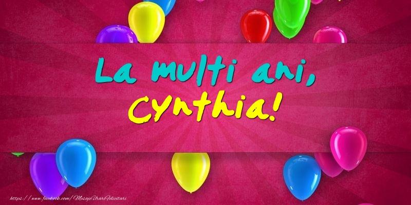 Felicitari de Ziua Numelui - La multi ani, Cynthia!