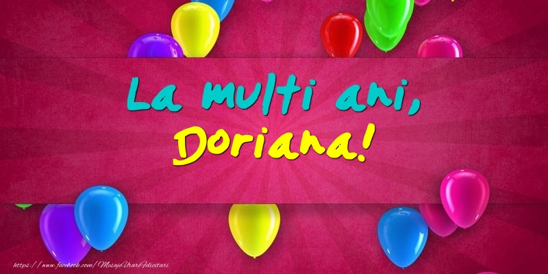 Felicitari de Ziua Numelui - La multi ani, Doriana!
