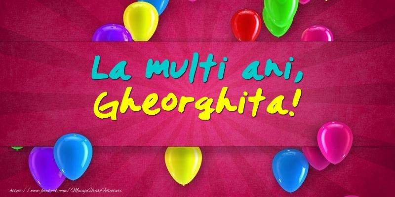Felicitari de Ziua Numelui - La multi ani, Gheorghita!