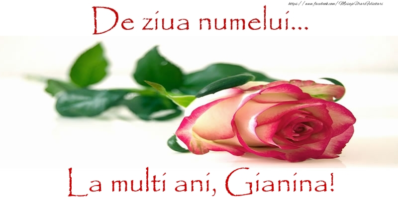Felicitari de Ziua Numelui - De ziua numelui... La multi ani, Gianina!