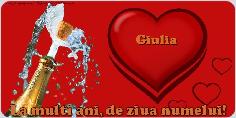 Felicitari de Ziua Numelui - La multi ani, de ziua numelui! Giulia