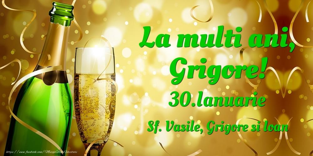 Felicitari de Ziua Numelui - La multi ani, Grigore! 30.Ianuarie - Sf. Vasile, Grigore si Ioan