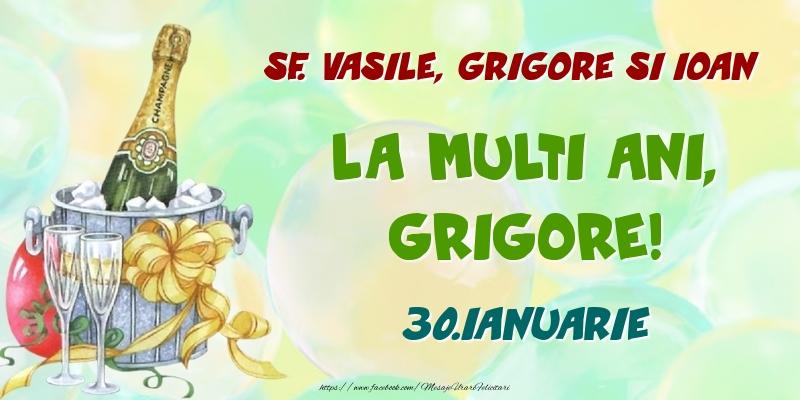 Felicitari de Ziua Numelui - Sf. Vasile, Grigore si Ioan La multi ani, Grigore! 30.Ianuarie